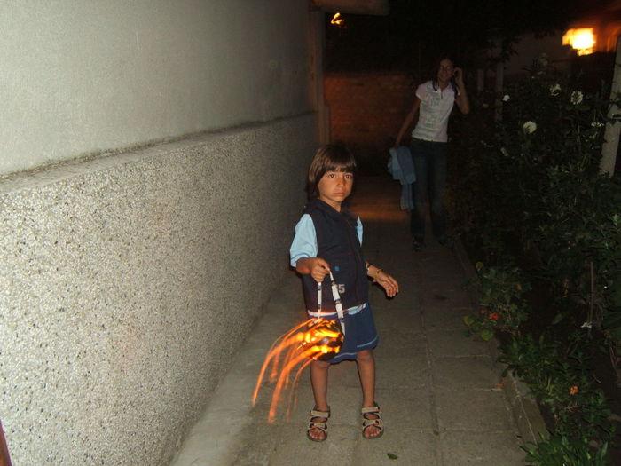 Full Length Of Boy Holding Jack O Lantern