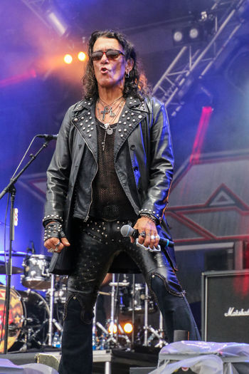 Sweden Rock Festival 2017 Arts Culture And Entertainment Eyeglasses  Front View Illuminated Low Angle View Musician Night One Person Performance Ratt Real People Rock Music Rock Musician Singing Stage - Performance Space Stephen Pearcy