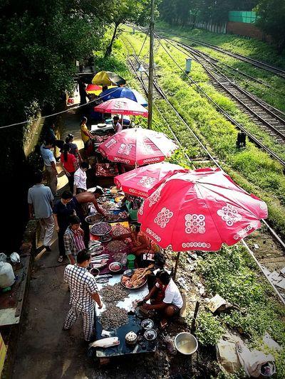 Local morning market...Yangon Yangon, Myanmar People Life Market Stall Leisure Activity Lively Outdoors Shopping Time Travel Myanmar Travel Destinations Streetphotography Real People Morningwalk Morningactivity