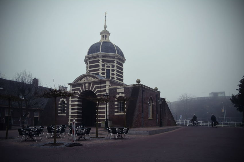 Architecture City Cityscape Cold Temperature Day Dome Fog Holland Leiden Nederland Outdoors Sky Travel Destinations Winter