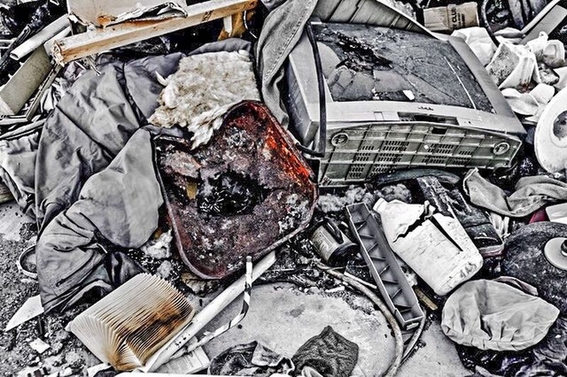 Remnants Streetart Streetphotography Poetry In Pictures Decayed Beauty Urbanphotography Poetic Imagery Poetic Photography Vintage Moments Abandoned Abandoned Places Lifestyles High Angle View Large Group Of Objects No People Damaged Day Abandoned The Still Life Photographer - 2018 EyeEm Awards Still Life Obsolete Heap Broken Metal