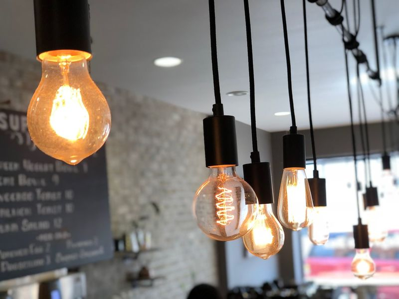 Hanging Lightbulbs Illuminated Lighting Equipment Hanging Focus On Foreground Light Bulb Light No People Glowing Filament Electric Light Indoors