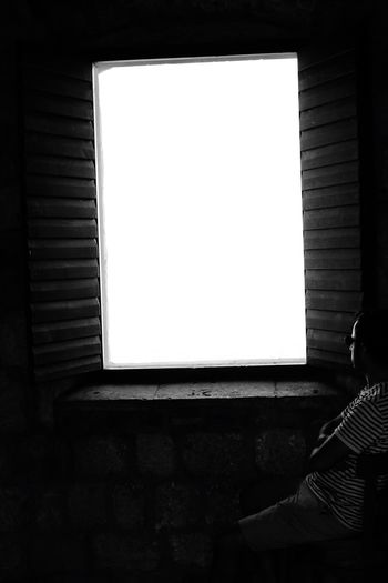 Window Real People One Person Day People The Week On EyeEm Waiting Prison Looking Into The Future From Shadows To Light Shadows & Lights Shadow Light And Shadow Light