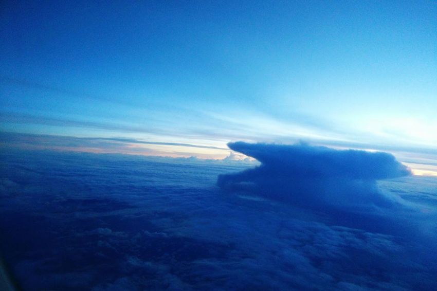 Sky above the clouds...