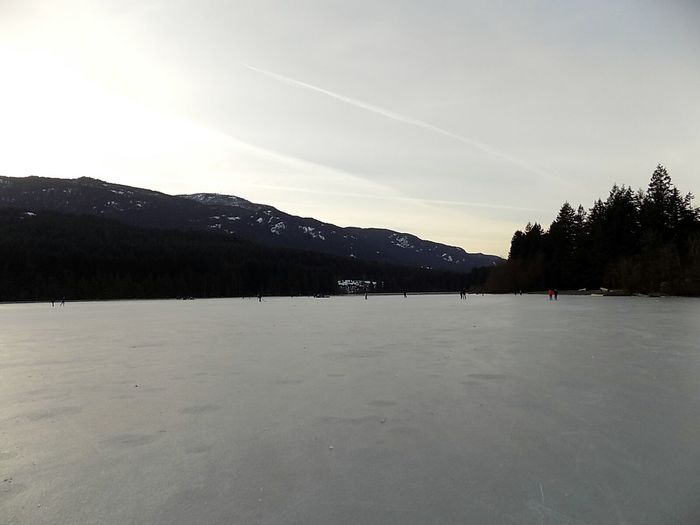 Sunset Landscape Snow Water Lake Tranquility Mountain Purity Winter Scenics Outdoors No People Beauty In Nature Nature Day Skating ✌ 2017 Year Frozen Lake Vancouver Island Canada Nature Cold Temperature Ice Beauty In Nature