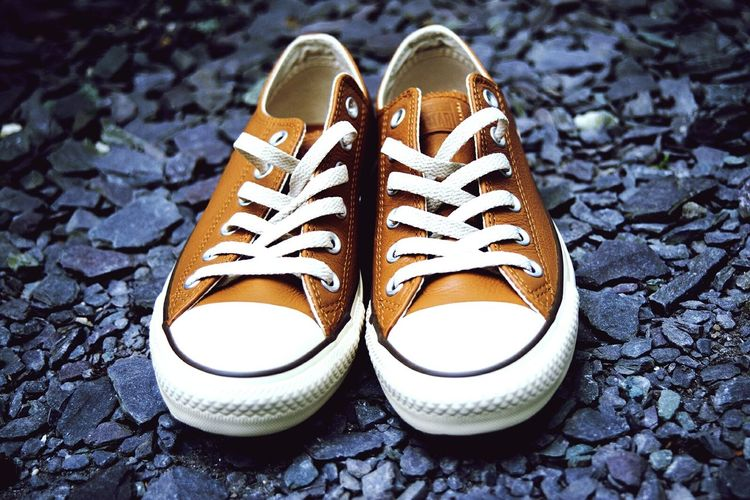 Converse Shoe Pair Canvas Shoe No People Close-up Outdoors Day EyeEmNewHere Weddingshoes Brownshoes Out Of The Box