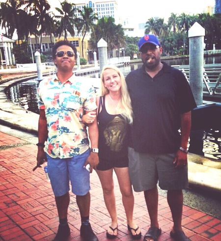 We in Ft. Lauderdale! HOLLA! I'm the dork on the left, the third leg, who got lucky and caught a last minute ride with my friend Julie and her friend Harold to one of the best block parties of the summer, Mad Decent Block Party. We about to get TURNT UP! Maddecent Majorlazer FLOSSTRADAMUS Diplo