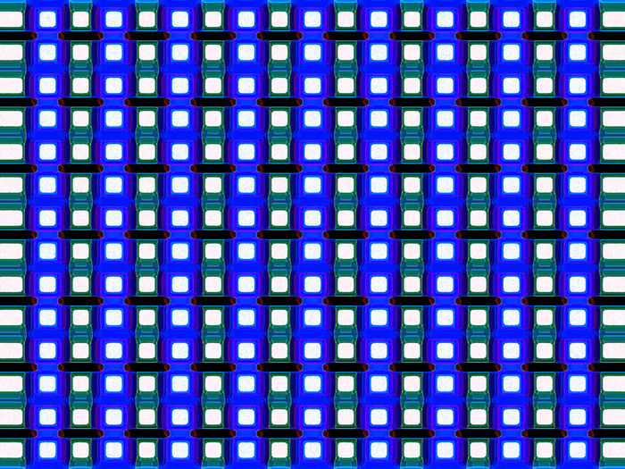 Full frame shot of multi colored pattern against blue background