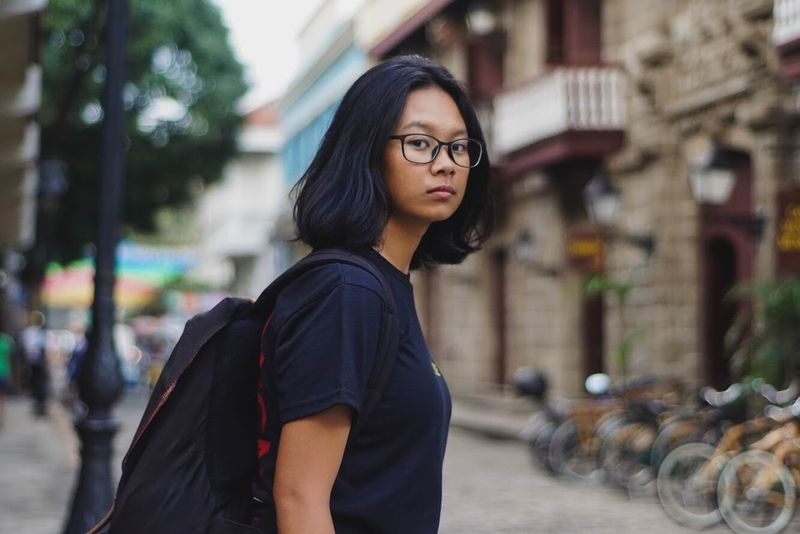 Eyeem Philippines Philippines Real People One Person Young Adult Black Hair Lifestyles Focus On Foreground Architecture Beautiful Woman Outdoors Casual Clothing