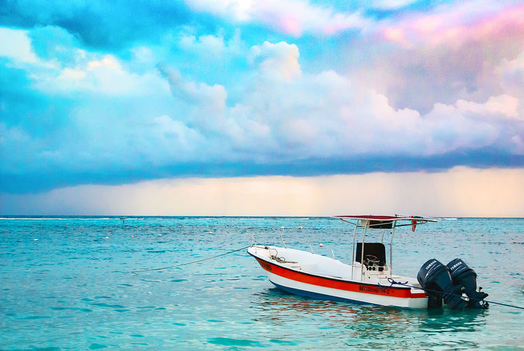 Beauty In Nature Cloud - Sky Day Horizon Over Water Jet Boat Mode Of Transport Nature Nautical Vessel No People Outdoors Scenics Sea Sky Tranquil Scene Tranquility Transportation Water