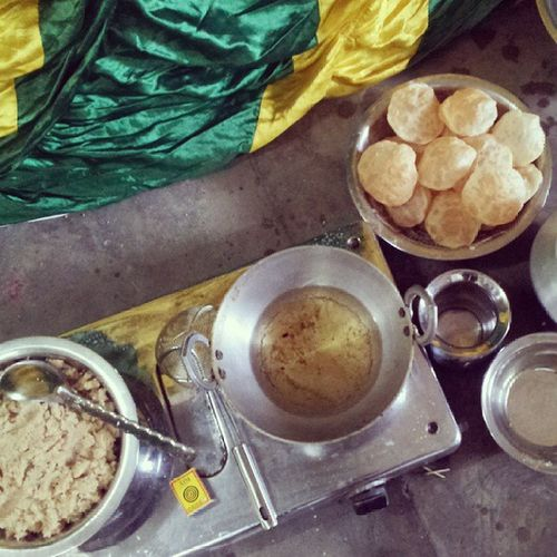 Prasad being prepared... Viswakarmapuja Instaguwahati Instaassam Instachill celebration religious function love india Bengali foodporn instafood share tumblr screen instagram abstract fun gathering