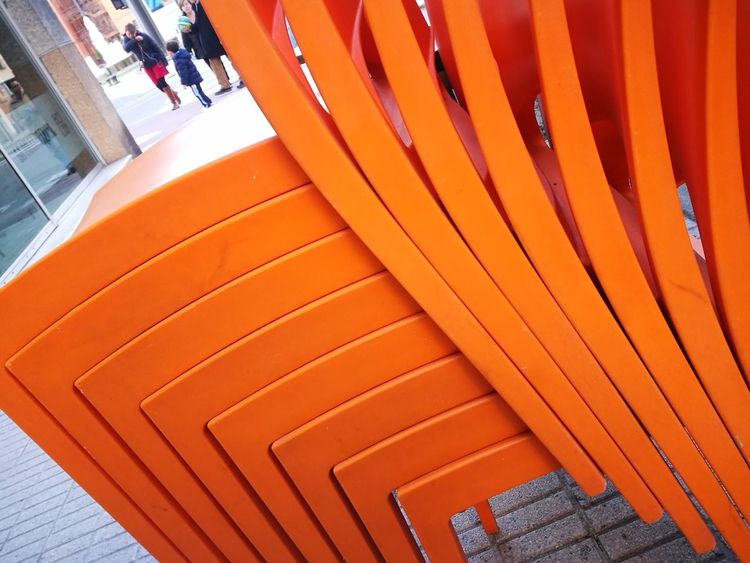 Orange Color High Angle View Chairs Seats Chairs Outside Chairs Perspective Chairstories Architecture Building Exterior Close-up No People Outdoors Day