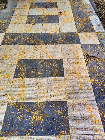 Seamless Pattern Backgrounds Full Frame Yellow Pattern Close-up