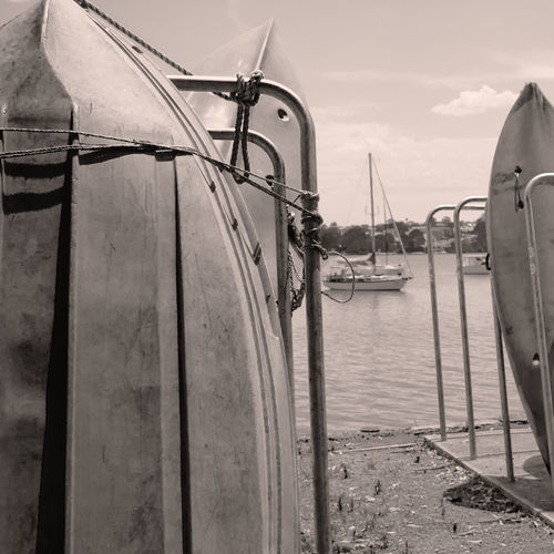 Black & White Black & White Boats Black & White Monochrome Black And White Black And White Boat Black And White Collection  Black And White Photography Boatlife Boats And Moorings Boats And Water Bw Bw Boat Day No People Old Boat Old School Old School Boats Outdoors Sky Water