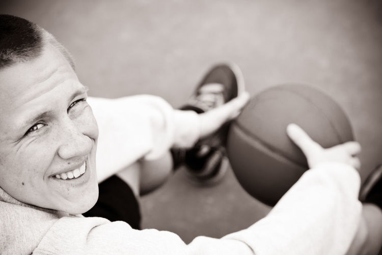 Basketball Basketball Portrait Boy With Basketball Close-up Happiness Looking At Camera Man With Bas Match - Sport Photo With Smartphone Portrait Senior Photo