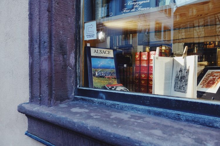 Window Outdoors Glass Street Glass - Material Reflection Architecture No People City City Life Book Bookstore Alsace France Travel Tourism Store Day Daylight Built Structure Building Exterior Building Streetphotography Light Lifestyles