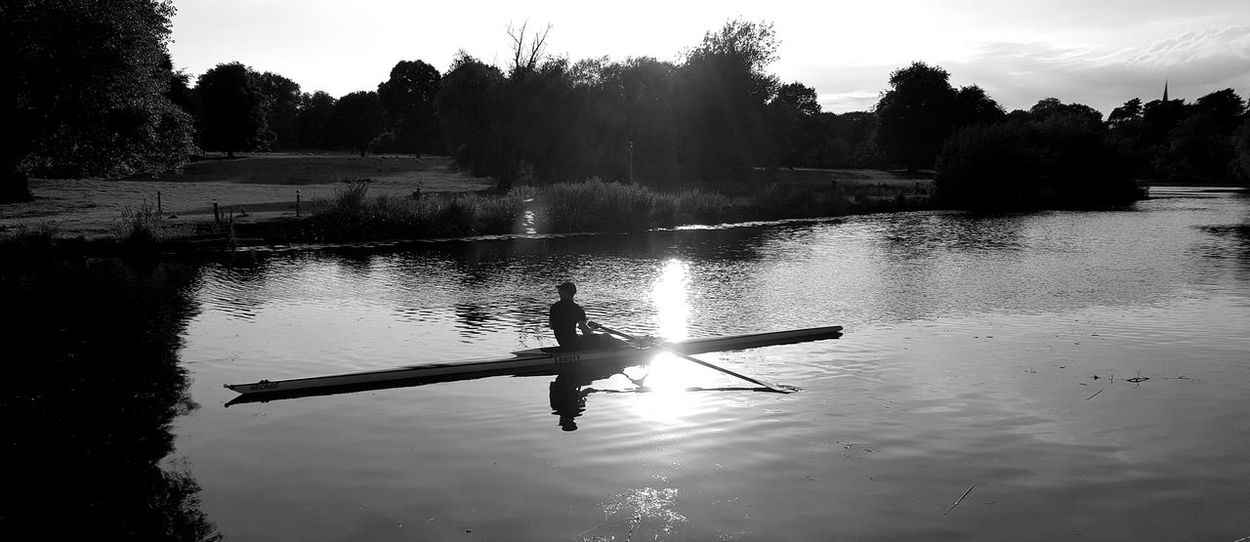 Canoeing on the river Soar, Leicestershire