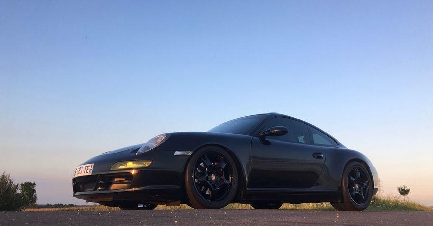 Porsche 911 Porsche997 Porsche Car Land Vehicle Clear Sky Copy Space Blue Transportation No People Luxury Day Outdoors