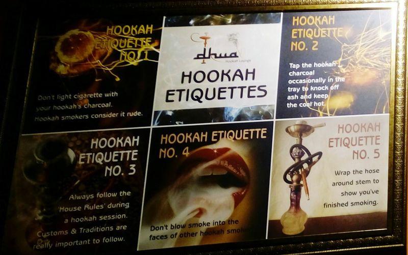 Hookah rules