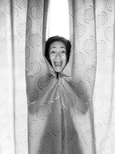 happy scream Beauty Funny Room Face Close-up Scream Happy Woman Girl Expression Blackandwhite Black And White Moments Of Happiness Looking At Camera Portrait Curtain Window