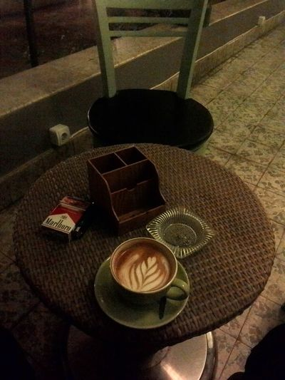waiting... Hanging Out Latteart Coffeemachine Coffee And Cigarettes This Is Indonesia