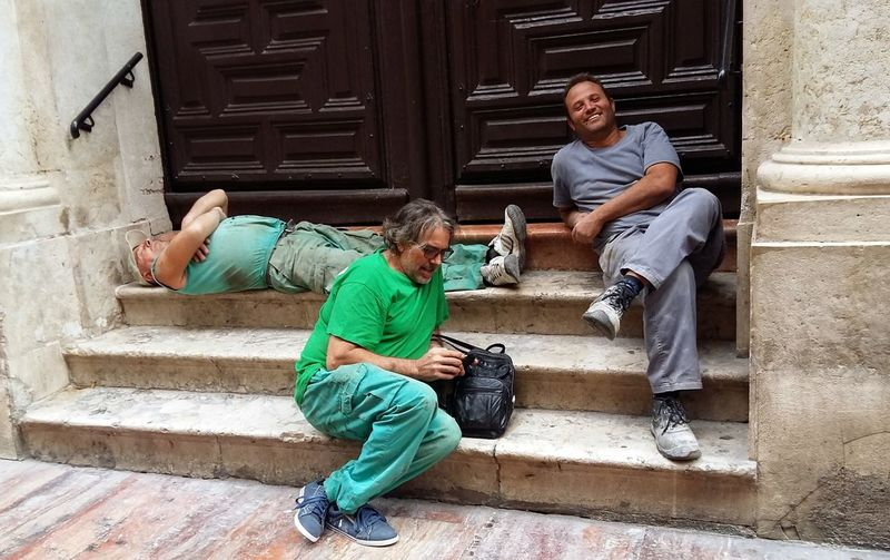 Siesta time Adults Only Relaxing Moments Siesta Time Sitting Steps And Staircases The Street Photographer - 2017 EyeEm Awards Three Men Relaxing Workers