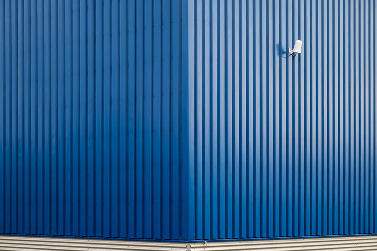 Corrugated Iron With White Light
