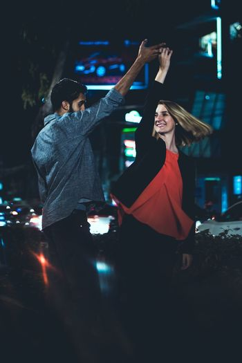 let's dance. Happy Hour Young Women Nightlife Women Popular Music Concert Arts Culture And Entertainment Music Togetherness Dancing Date Night - Romance Dating Love At First Sight Romance Romantic Activity Engagement Falling In Love Flirting