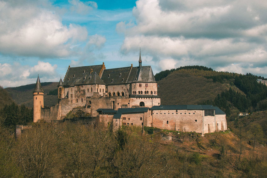 Luxembourg Vianden Luxemburg Architecture Building Building Exterior Built Structure Castle Cloud - Sky Day Fort History House Land Nature No People Old Outdoors Plant Sky The Past Travel Tree Vianden Vianden Castle
