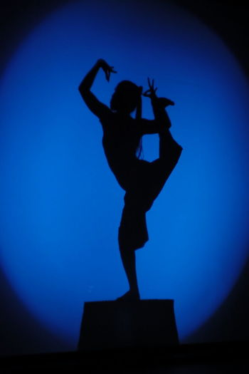 Phare circus, Cambodia Angkor Blue Cambidia Chinese Shadow Circus Dance Enjoyment Fun Lifestyles Shadow Silhouette Standing Traditional