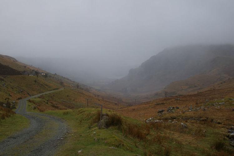 Mountain Fog Rural Scene Sky Landscape Cloud - Sky Mountain Range Weather Foggy Overcast Mist