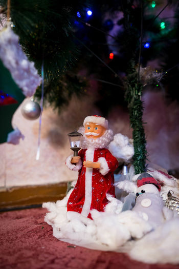 Christmas Christmas Decoration Human Representation Decoration Celebration Representation Male Likeness Snowman Christmas Ornament Santa Claus Figurine  Holiday Winter Art And Craft Toy Cold Temperature Snow christmas tree No People