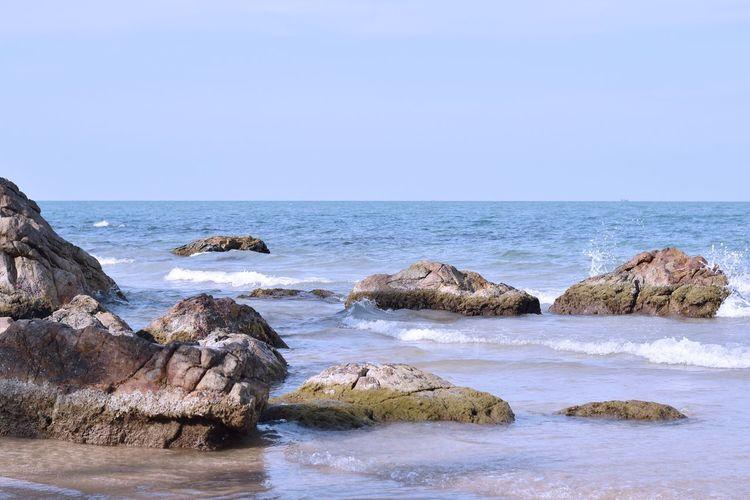Large stones,