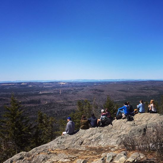 Summit View Hiking With Friends