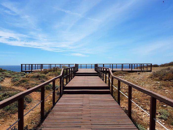 Sea Beach Horizon Over Water Railing Landscape Nikon D7200 PhotoGraphy Canoma Photography Nikon D7200 Portugal Atlantic Ocean Sagres Sagres, Algarve
