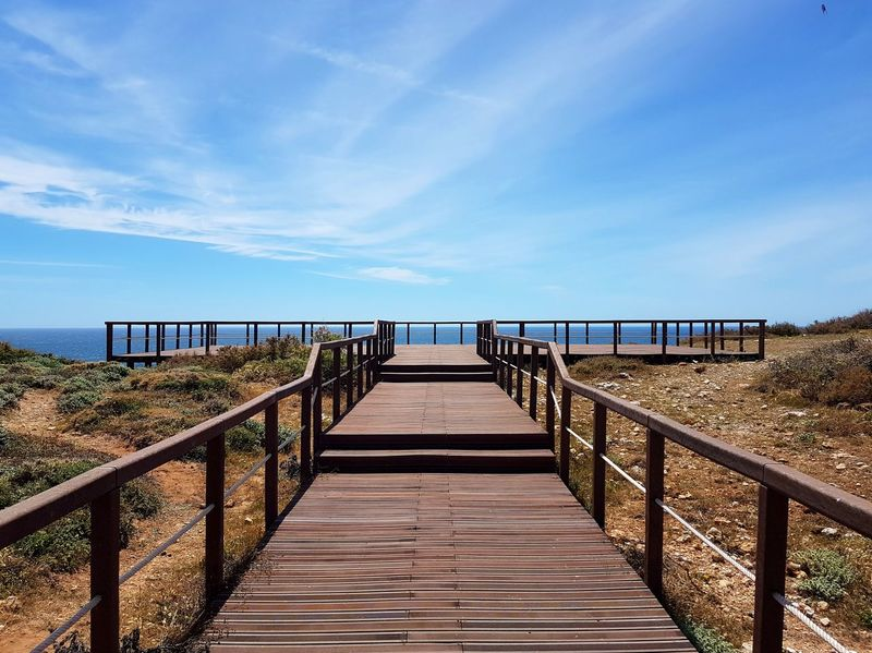 Sea Beach Horizon Over Water Railing Landscape Nikon D7200 PhotoGraphy Canoma Photography Nikon D7200 Portugal Atlantic Ocean Sagres Sagres, Algarve