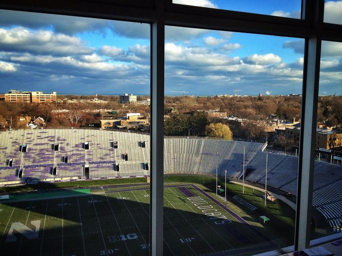 You would never know it by this photo, but today was a very cold day. Brrrrrrrr Football Michigan State Northwestern