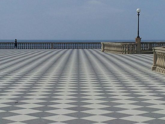 Architecture Tranquility Lonlyness Prospettive Terrace View Geometric Lines Smartphone Photography Livorno , Toscana,2014