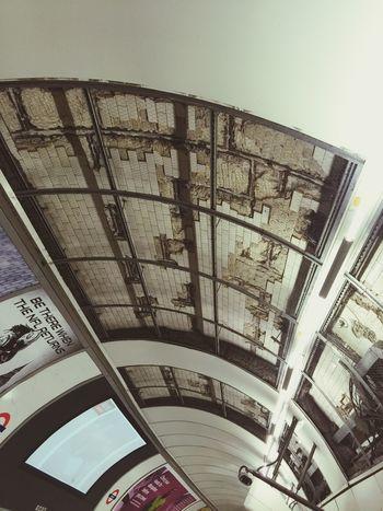 Art or Construction inside Bank tube station?