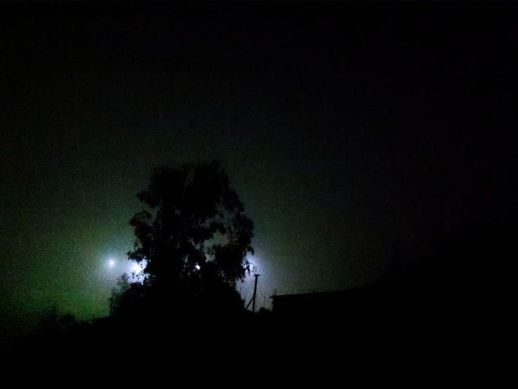 Fog Breeze Noche De Brisa Nebbia Brezza Light Reflections Tijuana, Mexico Night Notte