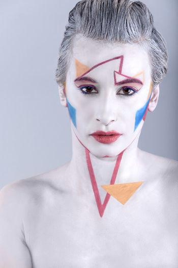 ** Colorful Colors Cute Fashion Geometric Geometry Makeup Model Nikon Shooting Studio Women First Eyeem Photo
