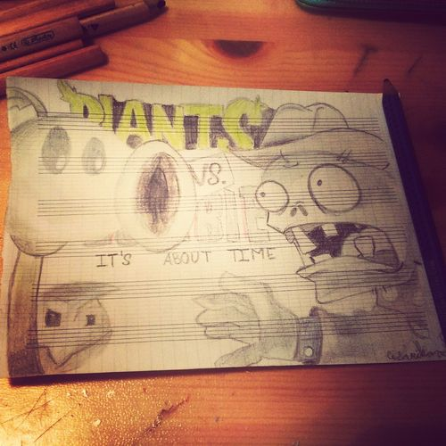 Plants Vs. Zombies Drawing It's About Time
