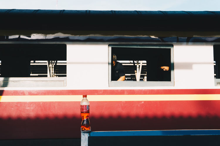 Mode Of Transportation Outdoors Rail Transportation Red Streetphotography Sunlight Transportation Window The Street Photographer - 2018 EyeEm Awards