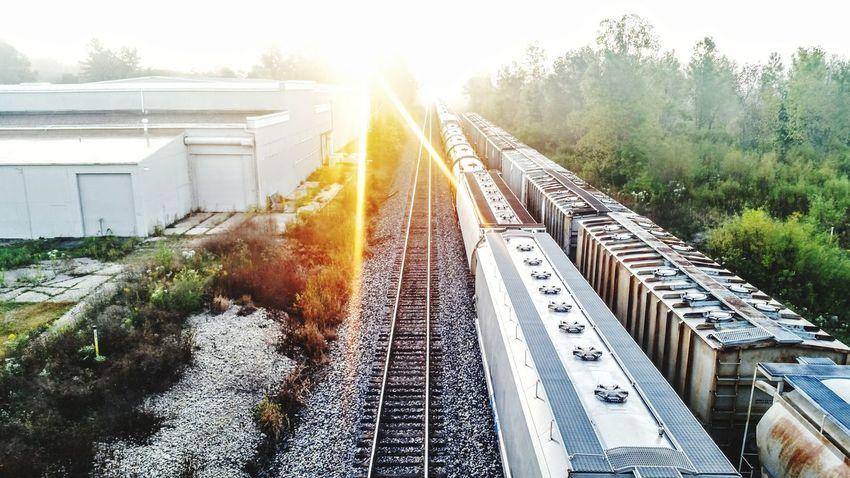 Sunrise over the train tracks in Galena, ill. Galena, Illinois Railroad Track Sky Rail Transportation Train