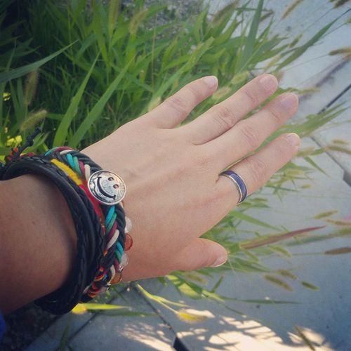 Gelang Bracelet Smile Ring Blue Ude うで