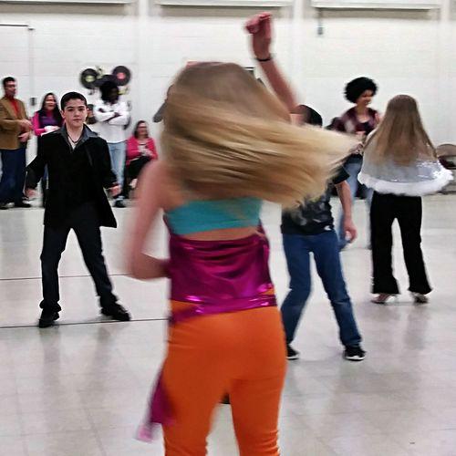 Full Length Motion Dancing Dancing Girl People Kids Dance School Dance Hair Movement Young Adult Indoors