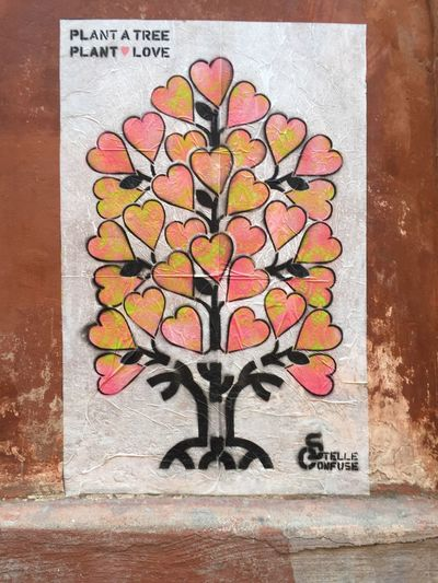 Tree Love Plant Love Plant A Tree Streetphotography Street Rome Street Art Creativity Text Wall - Building Feature No People Multi Colored