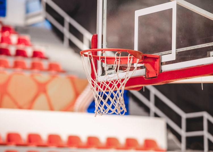 Basketball hoop indoors