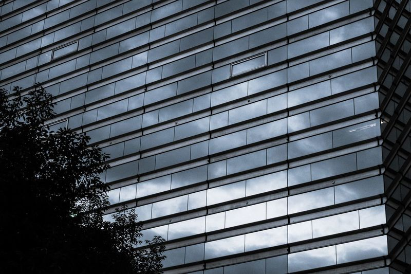Low Angle View Architecture Built Structure Building Exterior Pattern No People Full Frame Building City Sky Glass - Material Office Building Exterior Window