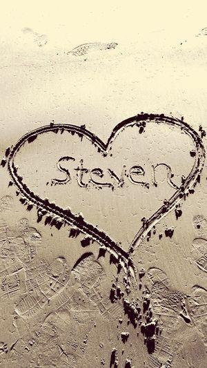 Sand Heart Shape Beach Love Communication Steven